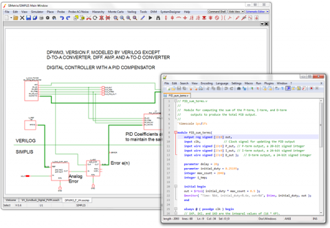 SIMPLIS VH: Schematic with Verilog-HDL Source