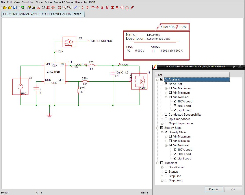Design Verification Module Simplis Shortcircuit Analysis Dvm Testplan And Schematic